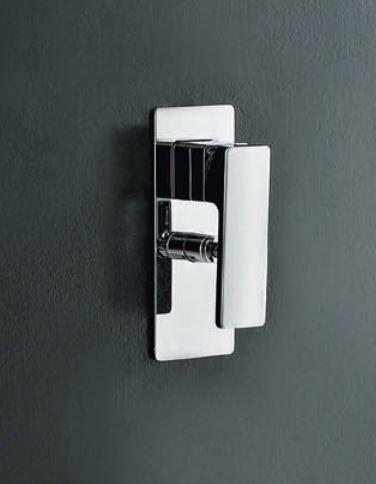 Zazzeri Mitigeur de douche encastré avec inverseur Qquadro INOX