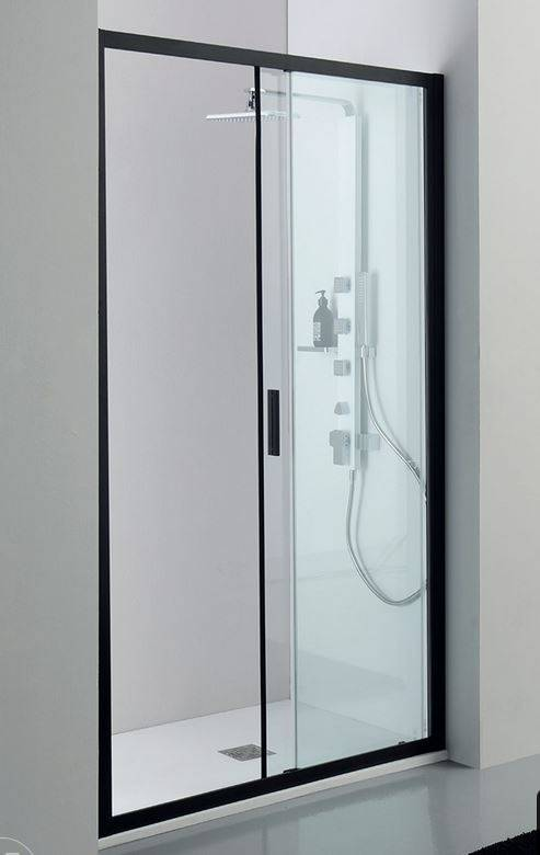 Tamanaco Boîte de douche à porte coulissante Rapid Noir 170 cm
