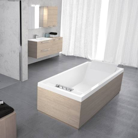 Novellini Sense Tub 4 Encastré 170X75 uniquement Shell - Couleur du bain: Blanc brillant -