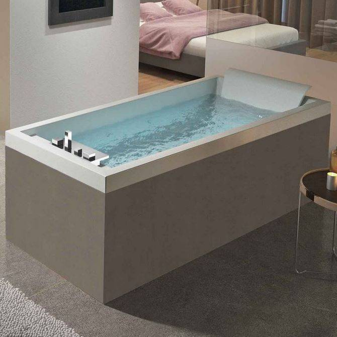 Novellini Baignoire d'hydromassage Sense 4 Dream Plus - 190x80 - Blanc brillant - grain -
