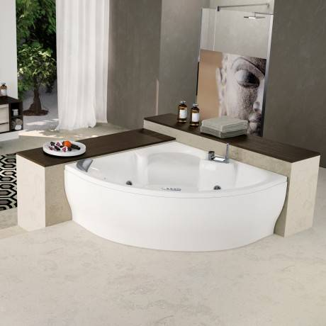 Novellini Sense 7 Z2 Tub sans Whirlpool - TAPS: AVEC TAPS - blanc: Blanc doux