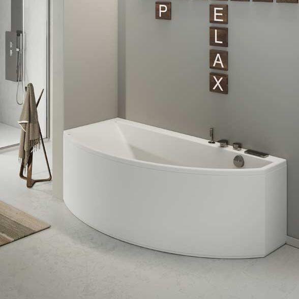 Grandform Salle de bain Slim Edge Asymmetric Air Minimal 160x90 - SANS ROBINET - Droit - O