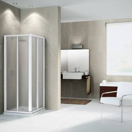 Novellini New Star Shower Box A Ouverture à angle coulissant 100x80 - 100x80