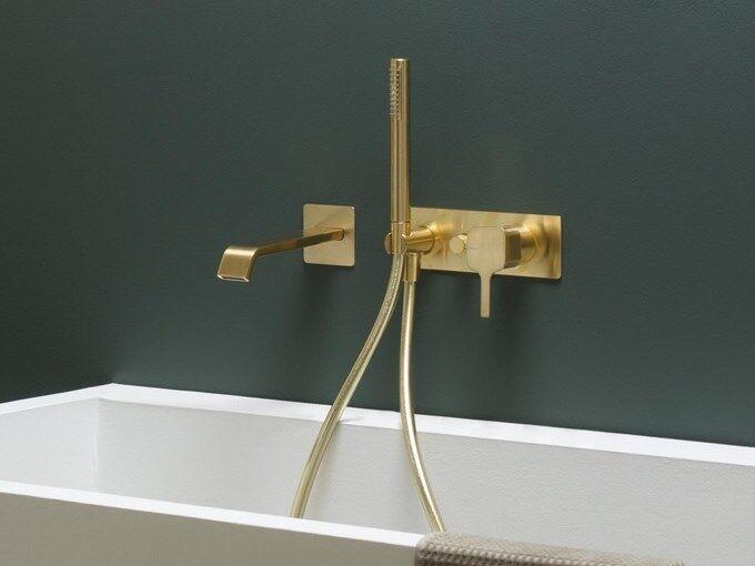 Ritmonio Mitigeur dissimulé pour baignoire Taormina Oro - finition: or