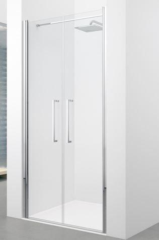 Novellini Cabine de douche Saloon Young 2.0 2B cm 110 Porte de douche HAUTEUR SUR MESURE -