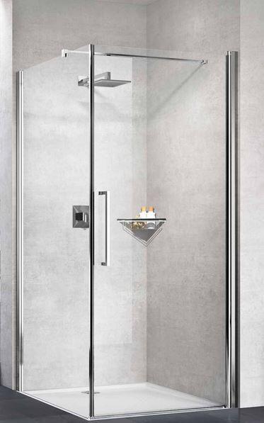 Novellini Young 2.0 G + F 90x70 Ouverture de la boîte de douche 1 porte à charnière + fixe