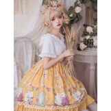 Robe Sweet Lolita OP Robe Neverland à imprimé floral et volants