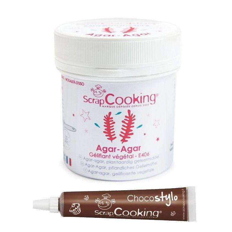 ScrapCooking Agar-agar en poudre + Stylo chocolat