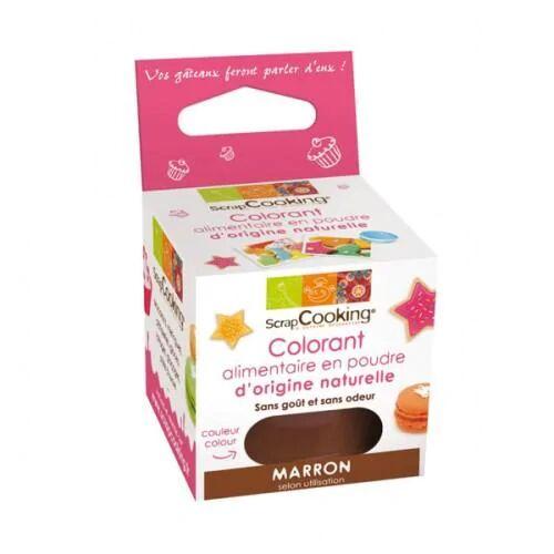 ScrapCooking Colorant alimentaire naturel en poudre - Marron