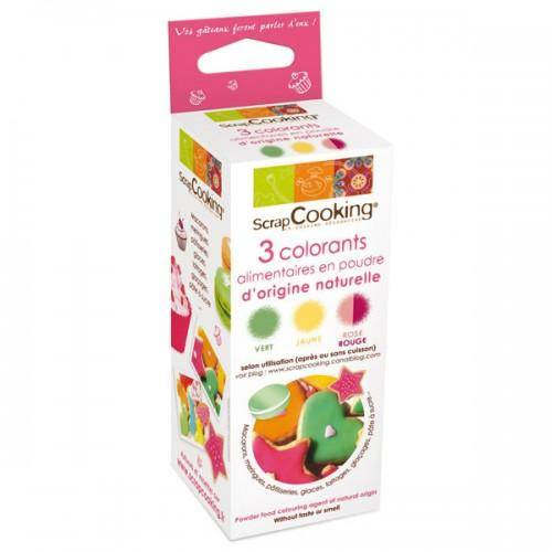ScrapCooking Kit Colorants naturels rouge / vert / jaune