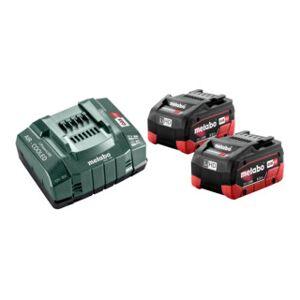 Metabo 2xbatteries Metabo 5,5Ah 18V+chargeur ASC 30-36V - Publicité