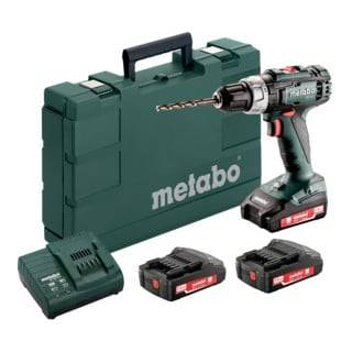 Metabo Kit perceuse-visseuse sans fil BS 18 L avec 3 x batteries Li-Power 18 V/2,0 Ah