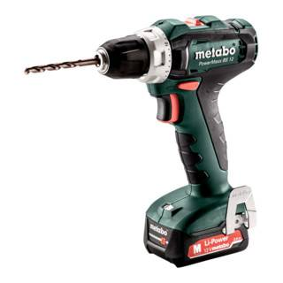 Metabo Perceuse-visseuse sans fil PowerMaxx BS 12 (601036500); Coffret; 12V 2x2Ah Li-Ion + SC 30