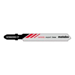 """Metabo 3 lames de scies sauteuses, inox (acier inoxydable), série """"expert"""", 57/ 1,1 mm, HM metabo"""