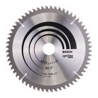 Bosch Lame de scie circulaire Bosch Optiline Wood pour scies oscillantes et à onglet 216x30x2,0mm 60