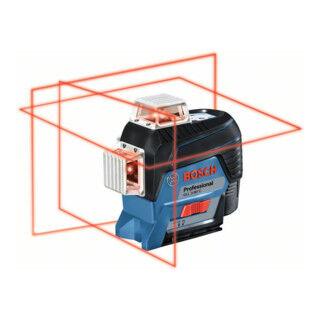 Bosch Laser à lignes croisées BOSCH à nivellement automatique GLL 3-80C avec Batterie et L-BOXX