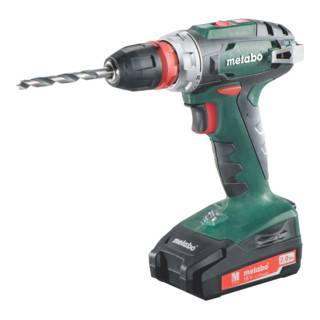 Metabo Perceuse-visseuse sans fil BS 18 Quick (602217500); Coffret; 18V 2x2Ah Li-Ion + SC 30