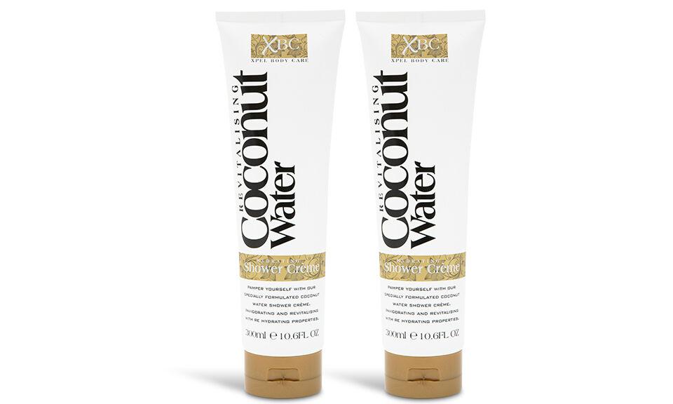 2x Soin cosmétique Eau de coco : crème de douche 300 ml