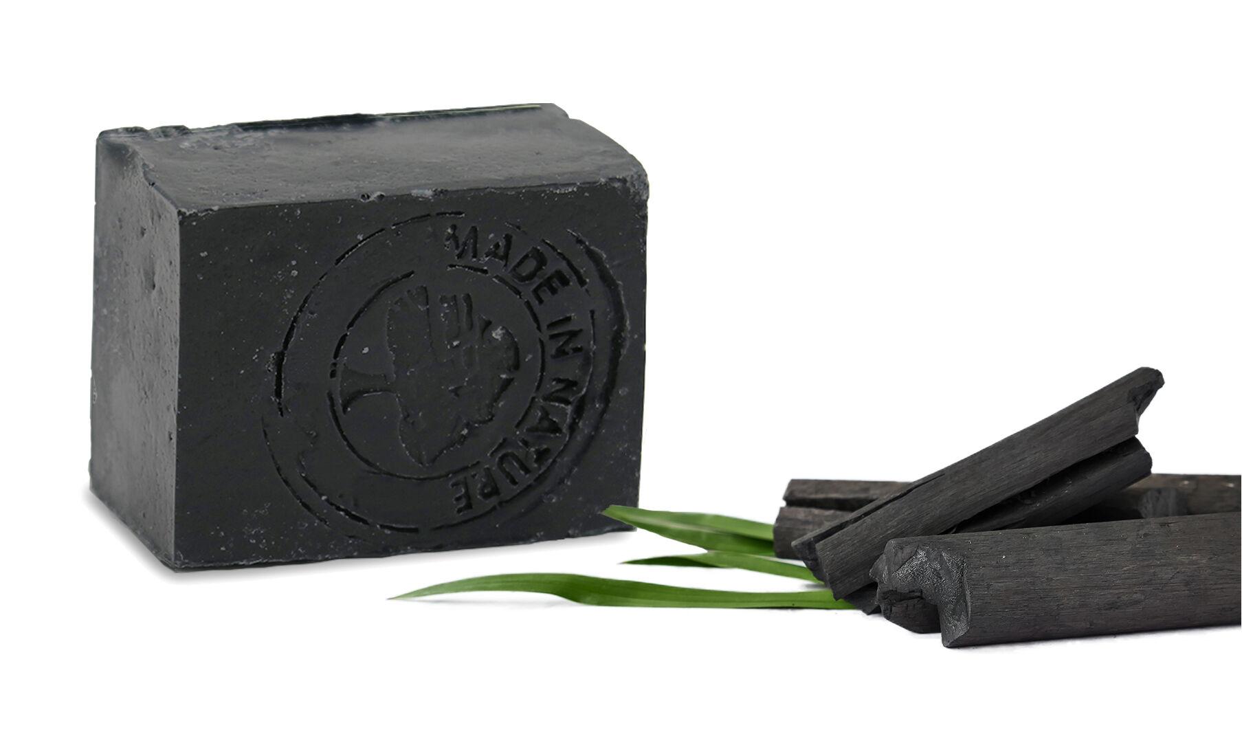 Savon noir artisanal vegan au charbon actif : x 3