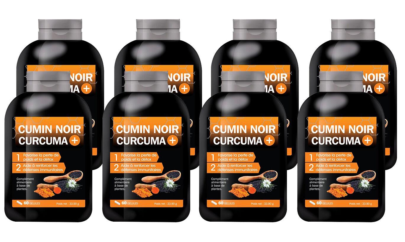 Cumin Noir Curcuma + : 8 mois (480 gélules)