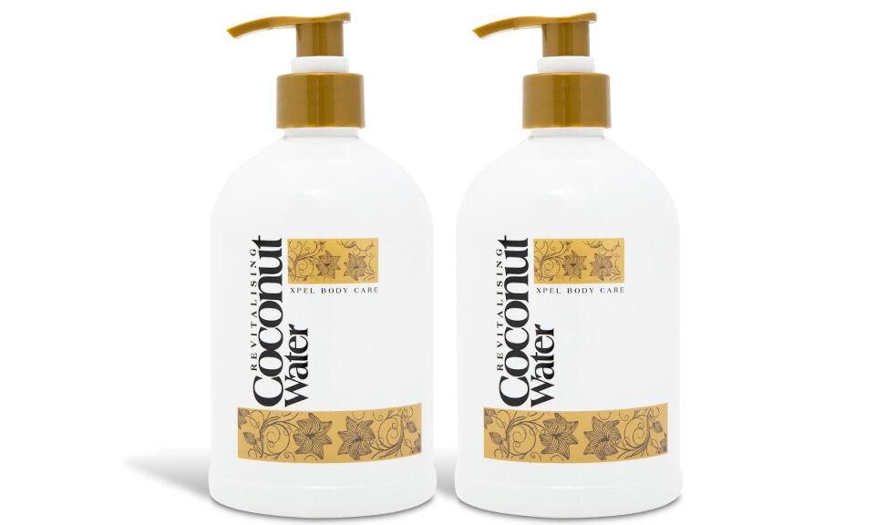 2x Soin cosmétique Eau de coco : gel nettoyant pour les mains 500 ml
