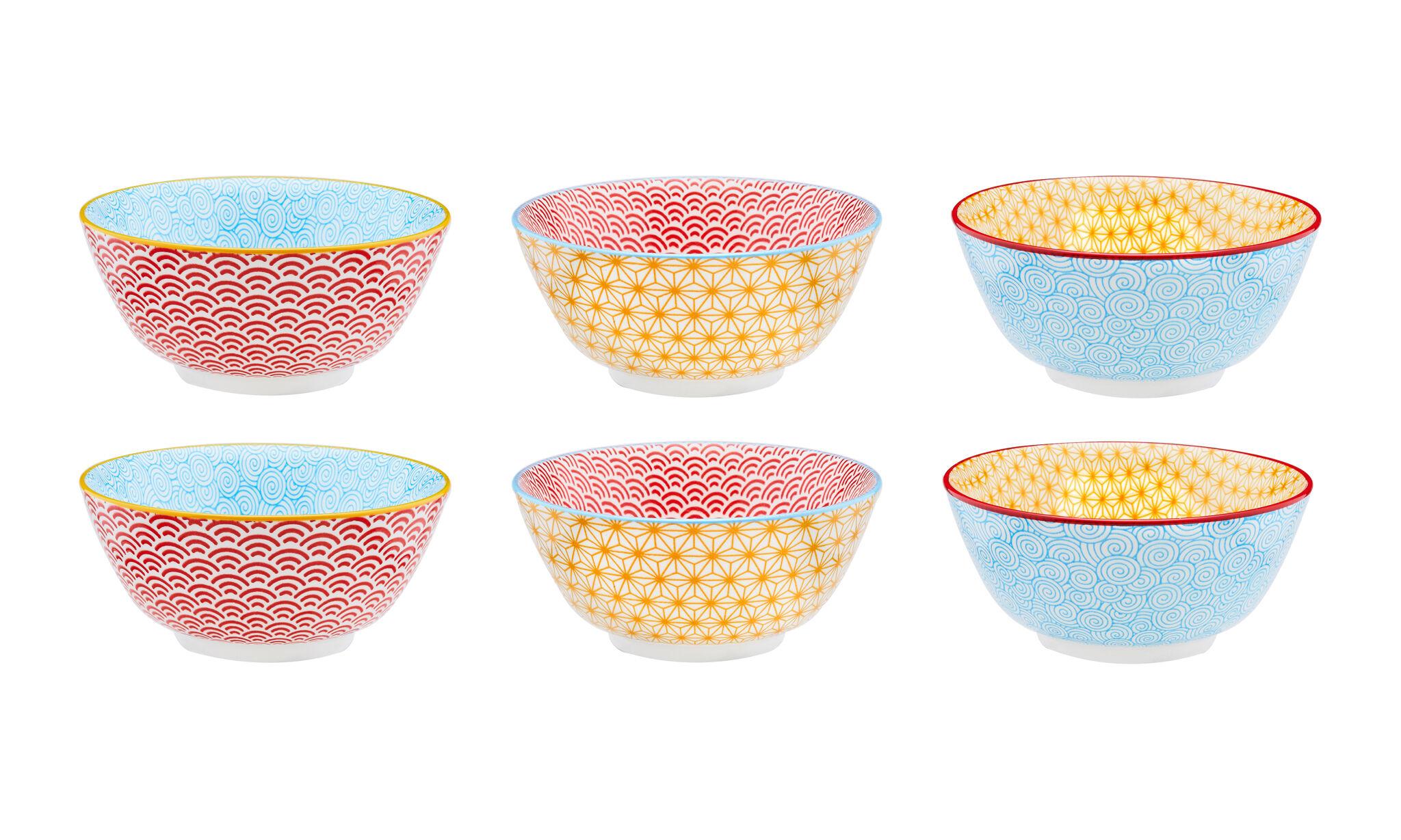 Vaisselle design - Collection Color : Bol petit-déjeuner Ø15cm - 6 pièces