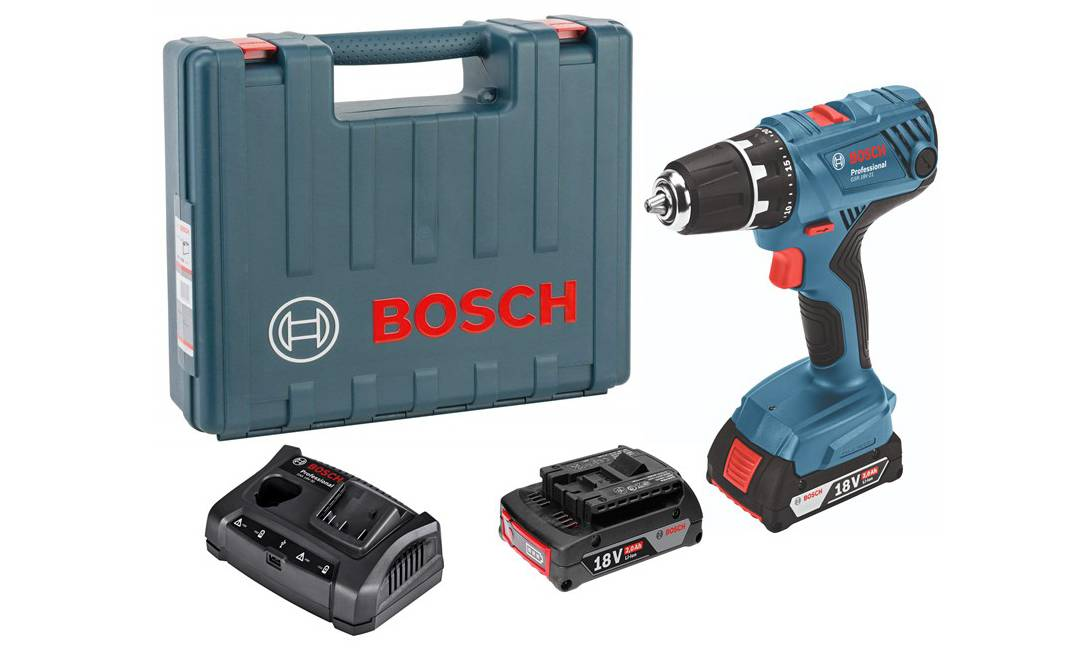 Coffret Bosch Perceuse-visseuse 18 Volts GSR 18V-21 Professional Sans fil+ 2 batteries, Garantie 2 ans