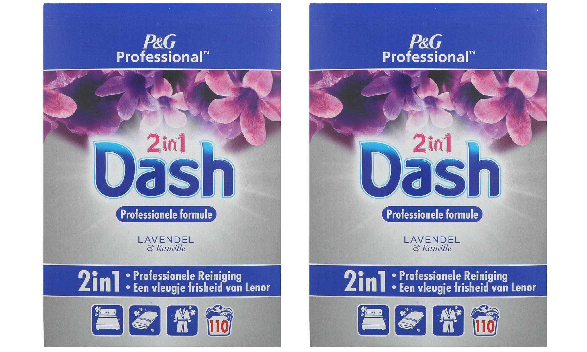 Pack de lessive en poudre Dash 2-en-1 : Lavande et camomille / x2