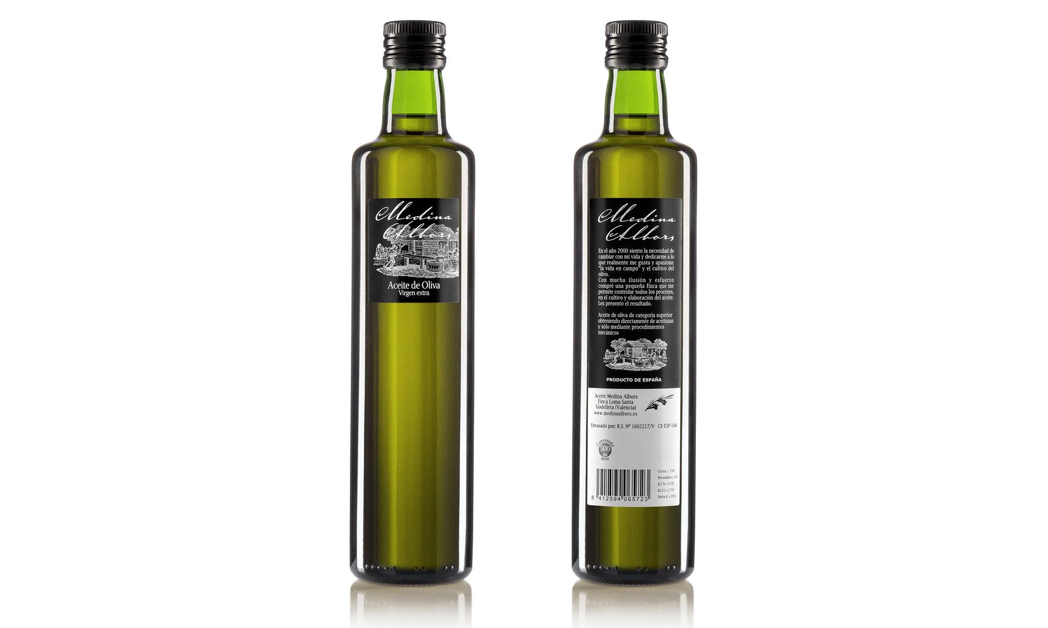 Huile d'Olive Extra Vierge Medina Albors 500 ml