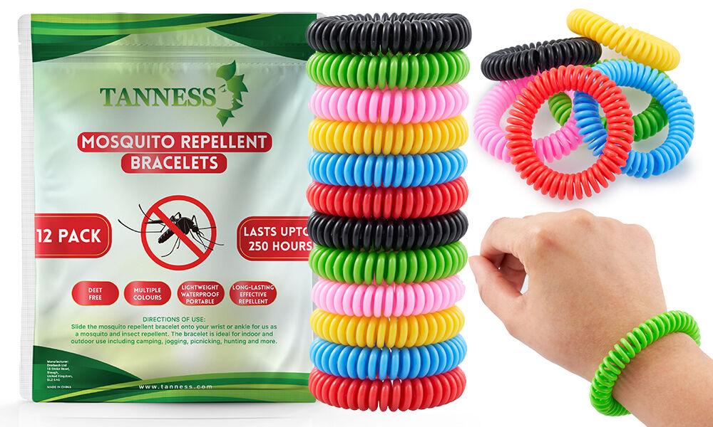 Bracelets anti-moustiques : 4 packs