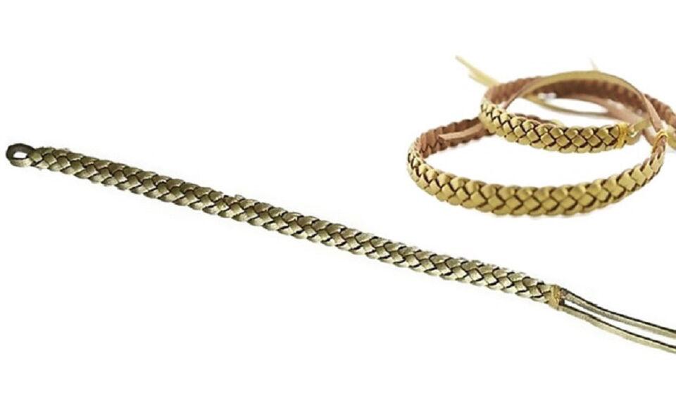 Bracelet anti-moustiques tressé : 2 / Or