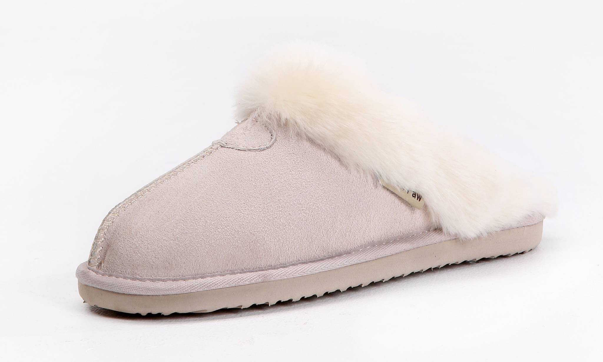 Chaussons en cuir Snow Paw : Sable / taille 4