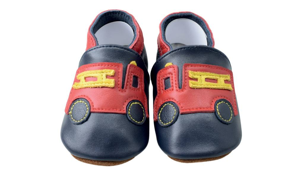 Chaussons cuir Shoop's - Camion 0-6 mois