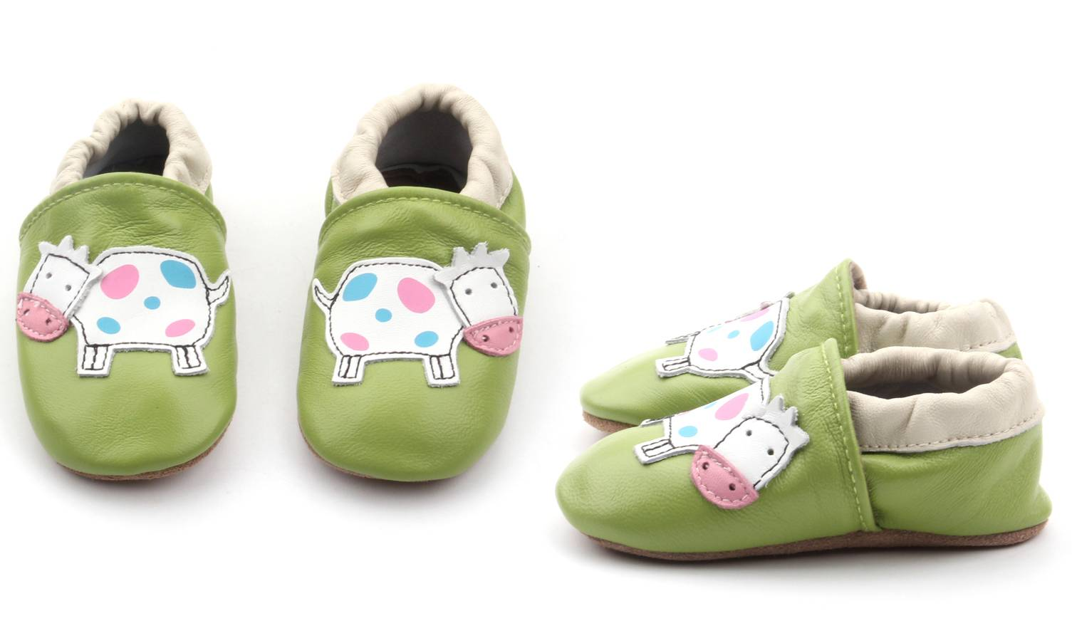 Chaussons cuir Shoop's - Vache 0-6 mois