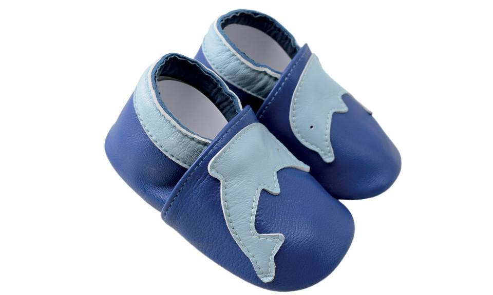 Chaussons cuir Shoop's - Dauphin 0-6 mois