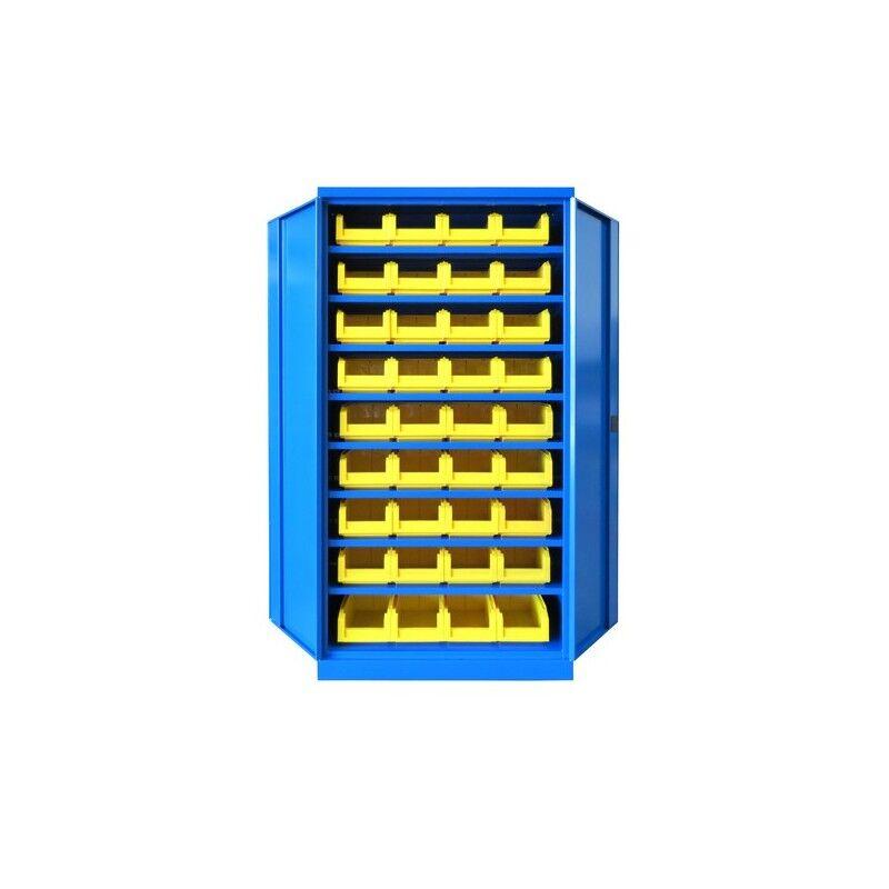 CARAY Armoire 8 étagères - 36 bacs à bec - 1000x435x1990 - caray