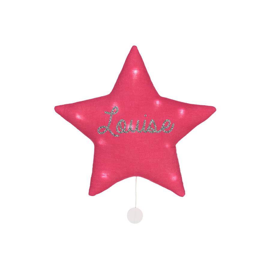 Oh la la Veilleuse musicale étoile lin personnalisée