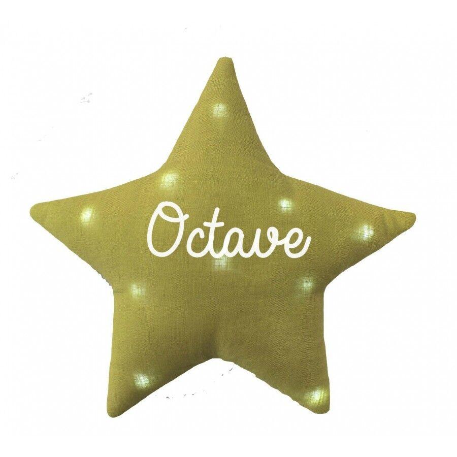 Oh la la Veilleuse étoile lin personnalisée