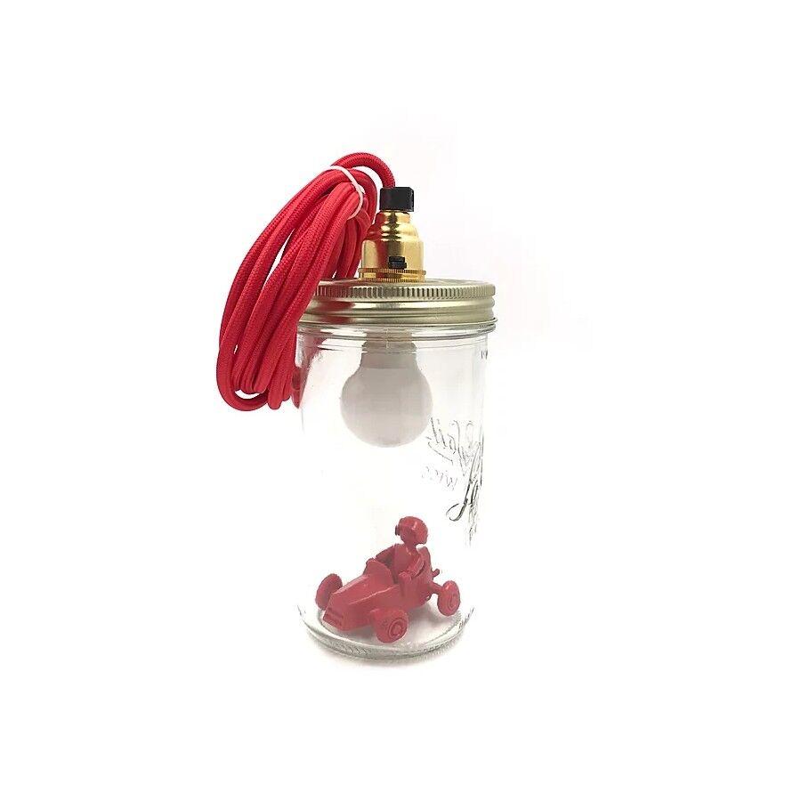 La cabane allumee Lampe/baladeuse bocal personnage personnalise