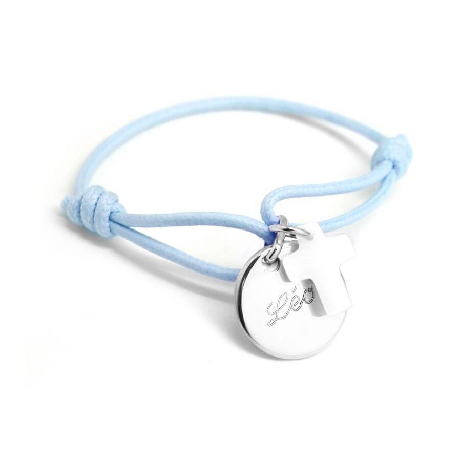 Petits tresors Bracelet personnalisé enfant - médaille de croix