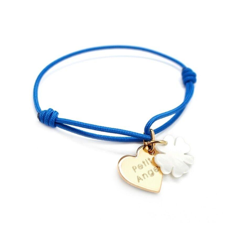 Petits tresors Bracelet personnalisé enfant - coeur de trefle