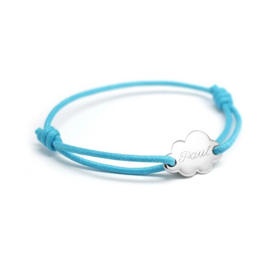 Petits tresors Bracelet personnalisé enfant - nuage