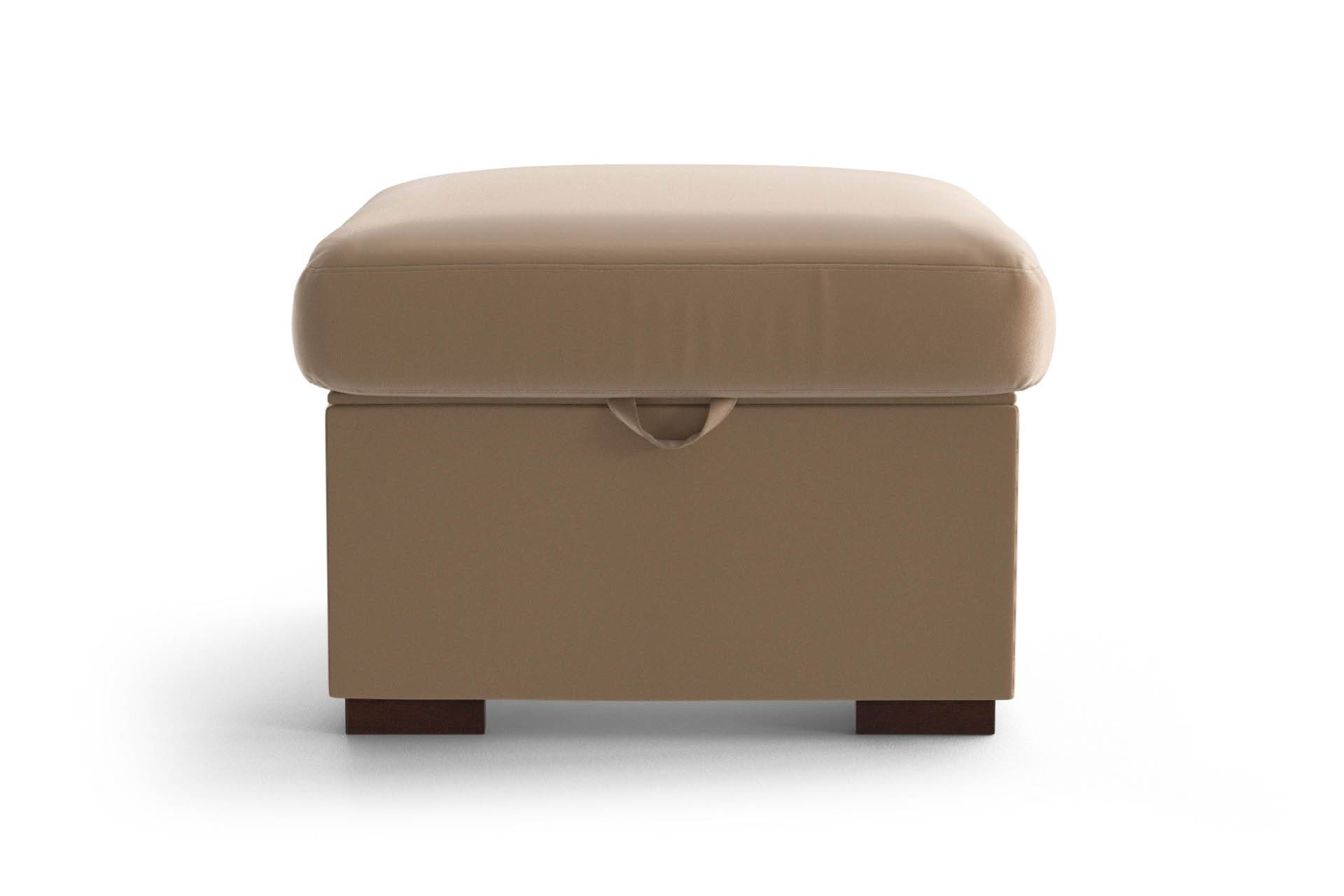 My Pop Design Pouf 1 Place Sable My Pop Design Odéon Toucher Velours Pieds en Bois Naturel