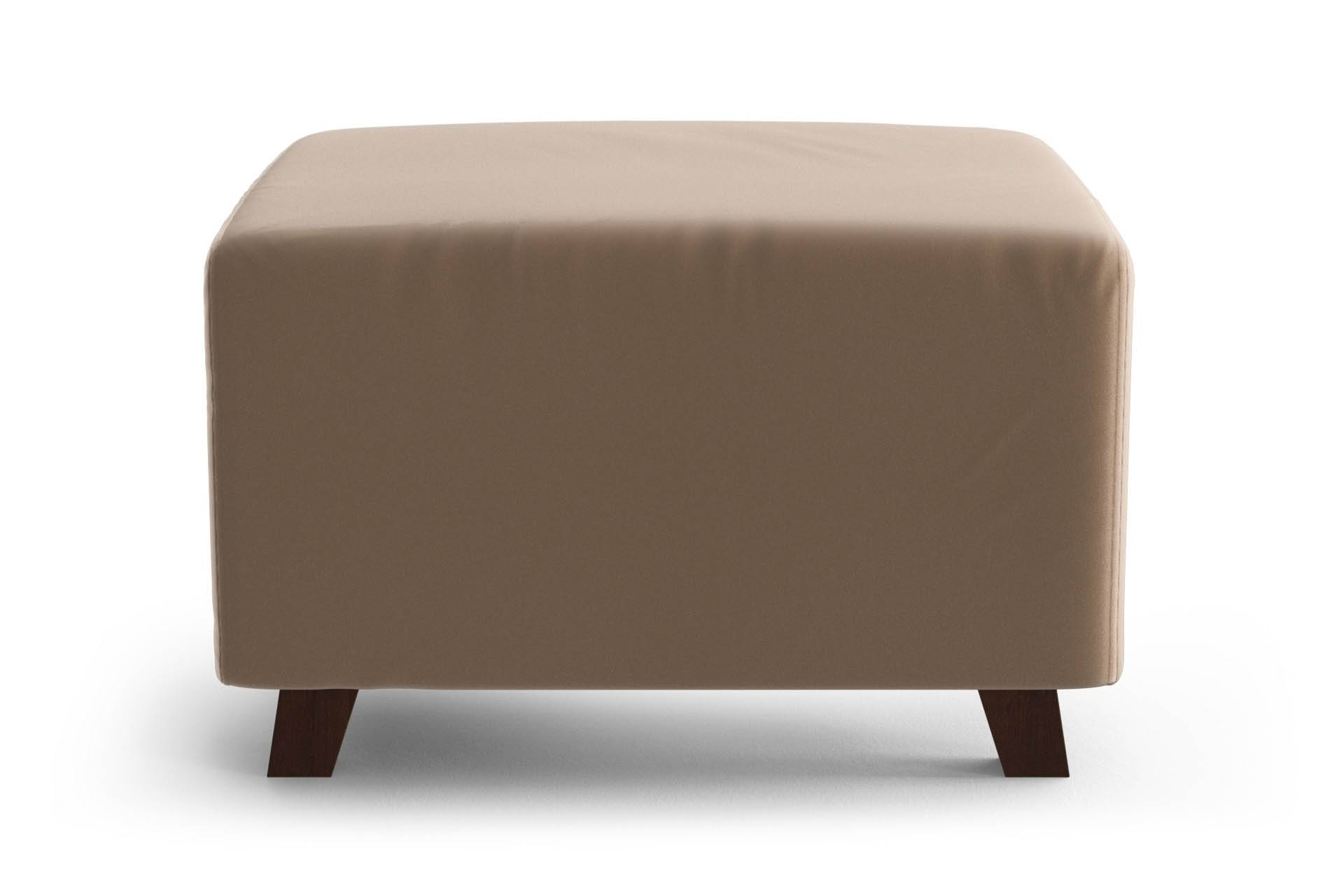 My Pop Design Pouf 1 Place Sable My Pop Design Cambronne Toucher Velours Pieds en Bois Naturel