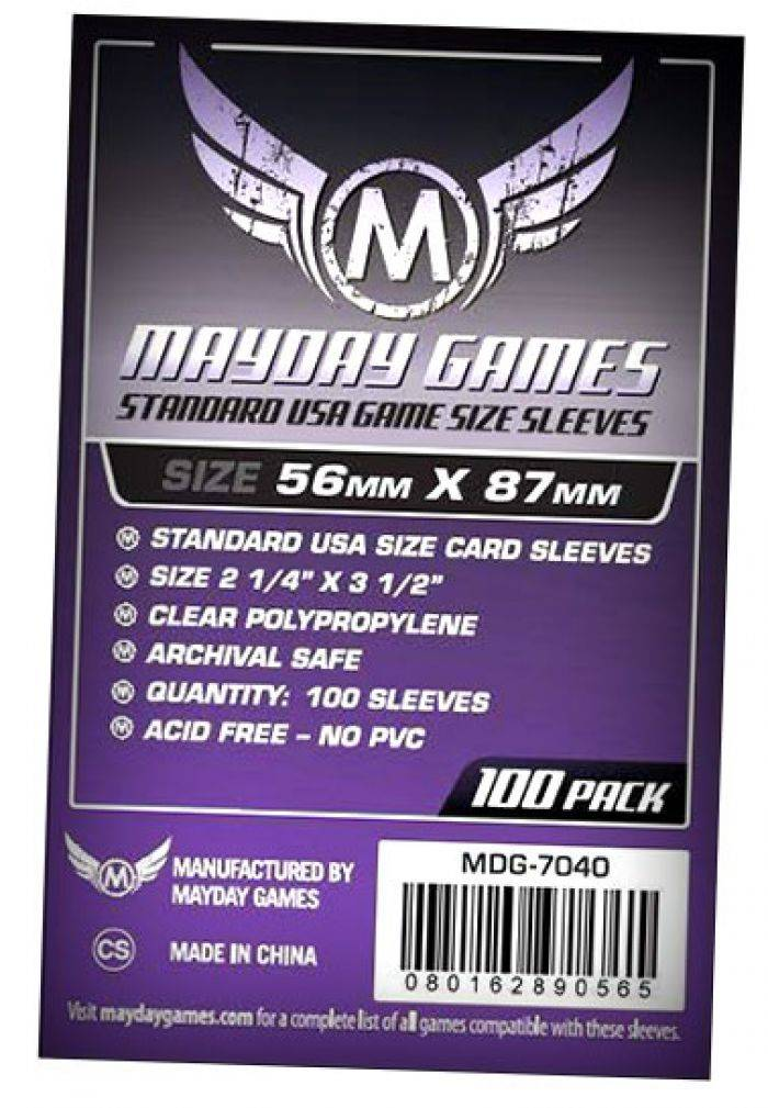 Pixie Games 56x87mm USA Standard - Sleeves Mayday