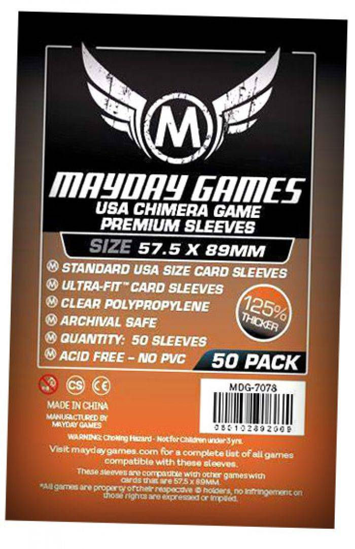 Pixie Games 57,5x89mm Chimera Premium - Sleeves Mayday