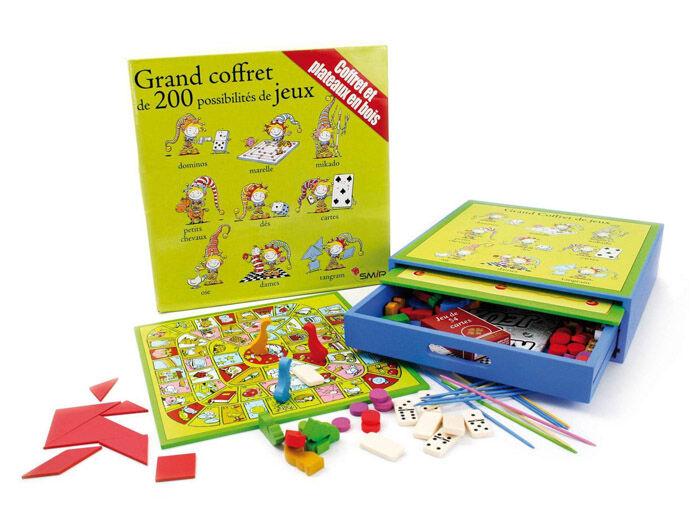 Jeujura Grand Coffret bois 200 jeux acidule
