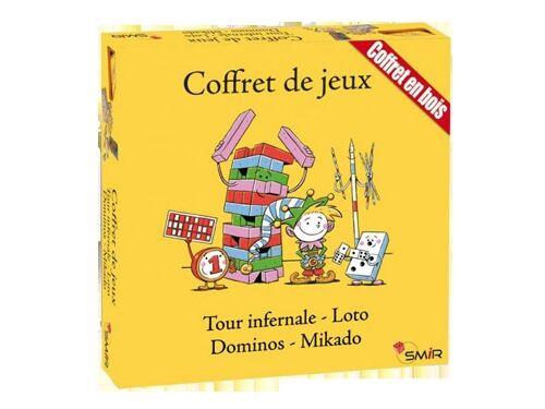 France Cartes Coffret en bois  de 4 jeux
