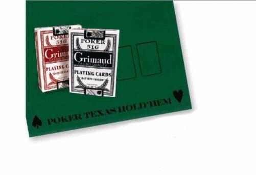 France Cartes Tapis de Poker 40 x 60 cm avec 2 jeux