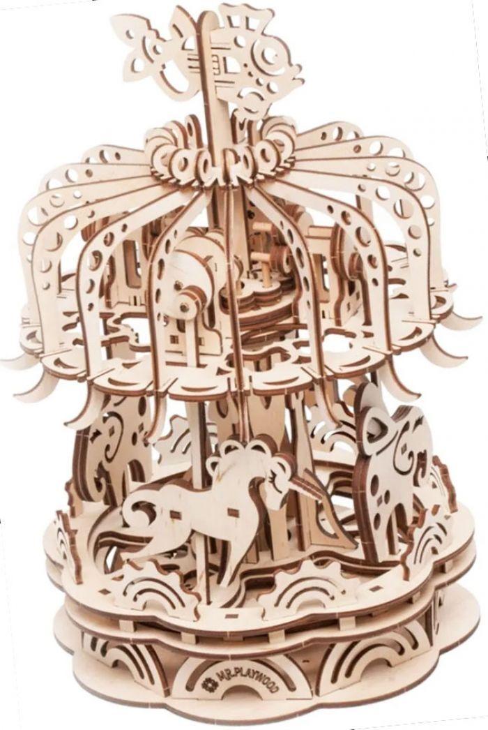 Gigamic Carrousel Maquette 3D Mobile En Bois